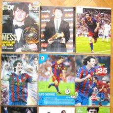 Coleccionismo deportivo: LOTE 9 LAMINAS MESSI FC BARCELONA ARGENTINA ASPECTO RIGIDO ORIGINALES HISTORICAS POSTAL POSTER. Lote 52571825