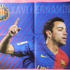 Coleccionismo deportivo: POSTER GRANDE DOBLE XAVI-INIESTA FC BARCELONA 08/09 CAMPEON TRIPLETE COPA LIGA CHAMPIONS 2008/2009. Lote 52622053