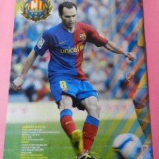 Coleccionismo deportivo: MINI POSTER DOBLE INIESTA-ETOO FC BARCELONA 08/09 CAMPEON TRIPLETE COPA LIGA CHAMPIONS 2008/2009. Lote 52622177