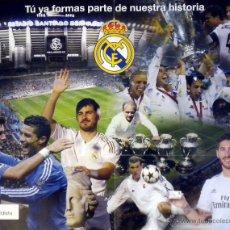 Coleccionismo deportivo: POSTER REAL MADRID CARNET MADRIDISTA RONALDO CASILLAS ZIDANE SERGIO RAMOS DI STEFANO. Lote 52699421