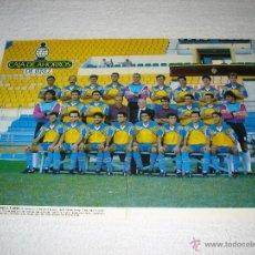 Coleccionismo deportivo: CADIZ C.F. - POSTER PLANTILLA DEL CADIZ C.F. TEMPORADA 1992/93. Lote 52801170