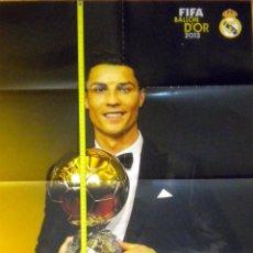Coleccionismo deportivo: POSTER CRISTIANO RONALDO BALON ORO 2013 REAL MADRID. Lote 52803916