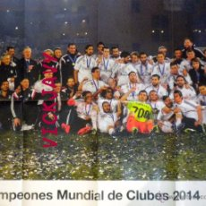 Coleccionismo deportivo: POSTER REAL MADRID CAMPEON MUNDIAL CLUBES 2014 COPA INTERCONTINENTAL. Lote 52804241