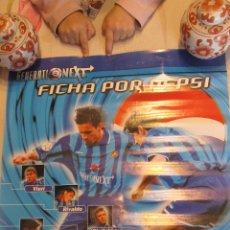 Coleccionismo deportivo: M69 CARTEL PUBLICITARIO AÑOS 90 DE PEPSI GENERATION NEXT CON VIERI, SUKER, MIJATOVIC RARO. Lote 52953475
