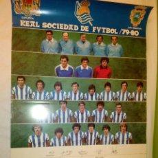 Coleccionismo deportivo: PÓSTER OFICIAL REAL SOCIEDAD TEMPORADA 1979/1980. Lote 53017332