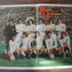Coleccionismo deportivo: POSTER REVISTA PUEBLO DE QUINIELAS. VALENCIA C.F.1974.. Lote 53033544