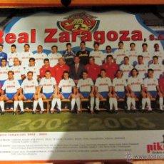 Coleccionismo deportivo: POSTER REAL ZARAGOZA PLANTILLA 2002-2003. Lote 53169923