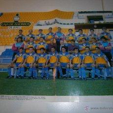 Coleccionismo deportivo: POSTER CADIZ C.F. 1992/93 ALINEACION FUTBOL LIGA TEMPORADA 1992/93 - LAMINA CARTEL CADIZ CF. Lote 268888859