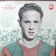 Coleccionismo deportivo: ANTIGUO CARTEL POSTER LAMINA RIBA , EXTREMO DERECHO FUTBOL CLUB BARCELONA BARÇA 32 / 23 CM . Lote 53515961