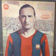 Coleccionismo deportivo: ANTIGUO CARTEL POSTER LAMINA ESCOLA , INTERIOR DERECHA FUTBOL CLUB BARCELONA BARÇA 32 / 23 CM . Lote 53516059