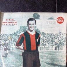 Coleccionismo deportivo: ANTIGUO CARTEL POSTER LAMINA CESAR INTERIOR IZQUIERDO FUTBOL CLUB BARCELONA BARÇA 32 / 23 CM . Lote 53516426