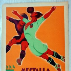 Coleccionismo deportivo: CARTEL FUTBOL, VALENCIA CF, AÑOS 30, CAMPO MESTALLA, LITOGRAFIA, TORMO , SIN TEXTO, DECO , RB. Lote 161948700