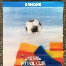 Coleccionismo deportivo: CARTEL POSTER OCTAVOS FINAL RECOPA DE EUROPA FC FUTBOL CLUB BARCELONA BARÇA ESTRELLA ROJA BELGRADO. Lote 53726294
