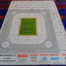 Coleccionismo deportivo: RECORTABLE ESTADIO SANTIAGO BERNABÉU REAL MADRID. DIARIO MARCA PUBLICIDAD OTAYSA 51X35 CMS. RARO.. Lote 127491618