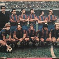 Coleccionismo deportivo: CARTEL POSTER FC FUTBOL CLUB BARCELONA BARÇA JOHAN CRUYFF PLANTILLA JUGADORES. Lote 54016675