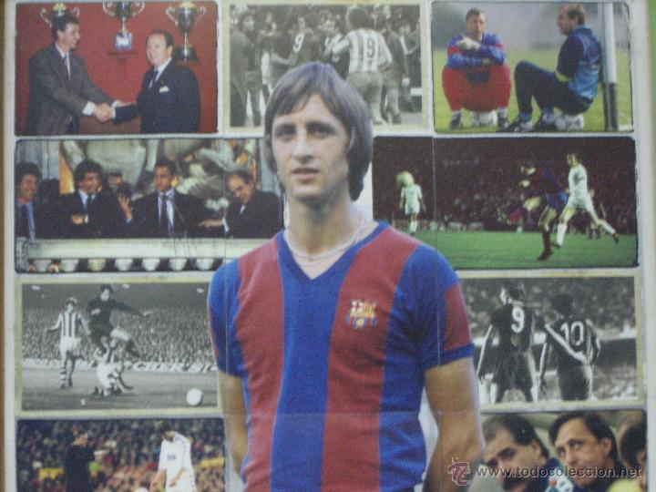 Coleccionismo deportivo: FC BARCELONA (BARÇA) *** CRUYFF *** JUGADOR LEGENDARIO *** CARTEL / LÁMINA *** ENMARCADO - Foto 2 - 54354887