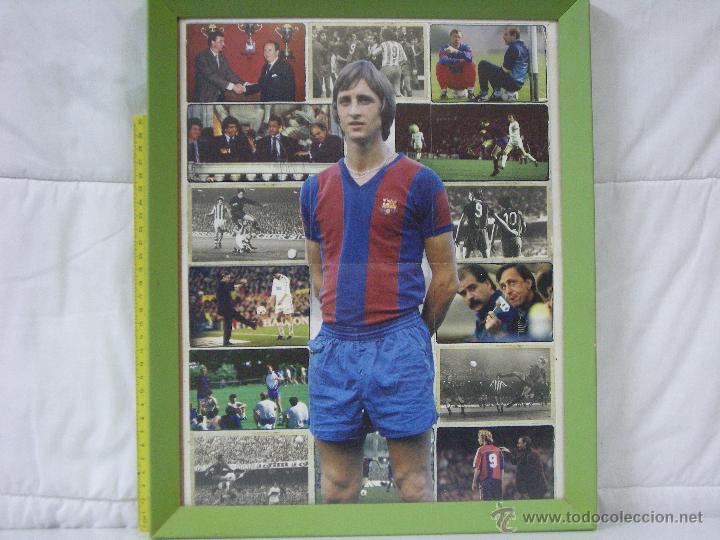 Coleccionismo deportivo: FC BARCELONA (BARÇA) *** CRUYFF *** JUGADOR LEGENDARIO *** CARTEL / LÁMINA *** ENMARCADO - Foto 3 - 54354887