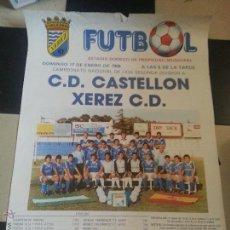 Coleccionismo deportivo: GRAN CARTEL 1988 FUTBOL C.D. CASTELLON XEREZ CLUB DEPORTIVO - JEREZ ESTADIO DOMEC SEGUNDA A. Lote 54364680