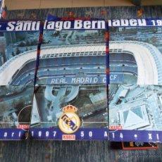 Coleccionismo deportivo: ESTADIO SANTIAGO BERNABÉU 50 ANIVERSARIO 1947 1997 COMPLETO 6 PÓSTER CARTEL. DIARIO MARCA. RAROS.. Lote 54410072
