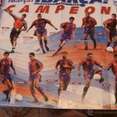 Coleccionismo deportivo: POSTER BARÇA ( 57 X 77CM) F.C.BARCELONA CAMPEÓN LIGA 1997-98.. Lote 54577140