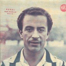 Coleccionismo deportivo: PAP- ANTIGUO POSTER TAMAÑO FOLIO AÑOS 30-40 JUGADOR PERAL REAL BETIS BALOMPIE. Lote 54587682
