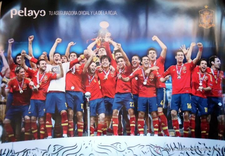 CARTEL SELECCION ESPAÑOLA DE FUTBOL TAMAÑO GRANDE (Coleccionismo Deportivo - Carteles de Fútbol)
