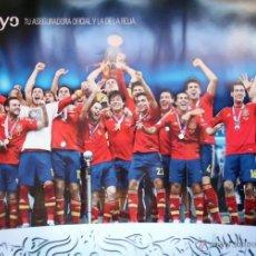 Coleccionismo deportivo: CARTEL SELECCION ESPAÑOLA DE FUTBOL TAMAÑO GRANDE. Lote 54842291