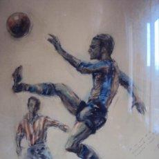 Coleccionismo deportivo: (F-1480)ACUERALA ORIGINAL DE PERE CLAPERAS DE GUSTAVO BIOSCA C.F.BARCELONA,DEDICADA POR ESTE. Lote 54654650