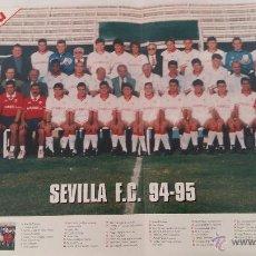 Coleccionismo deportivo: POSTER GRANDE SEVILLA F.C. 94-95 - FASCICULO HISTORIA CLUBES PRIMERA DIVISION - INTERVIU. Lote 54819985