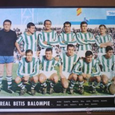 Coleccionismo deportivo: POSTER R.BETIS 1967-68 TELE-EXPRESS. Lote 54935157