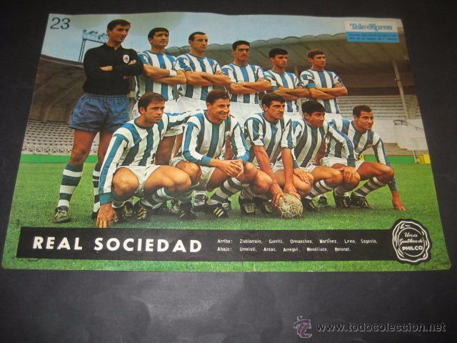 POSTER FUTBOL REAL SOCIEDAD 1964 (Coleccionismo Deportivo - Carteles de Fútbol)