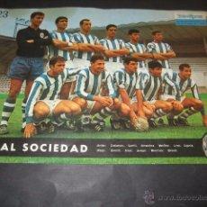 Coleccionismo deportivo: POSTER FUTBOL REAL SOCIEDAD 1964. Lote 55007952