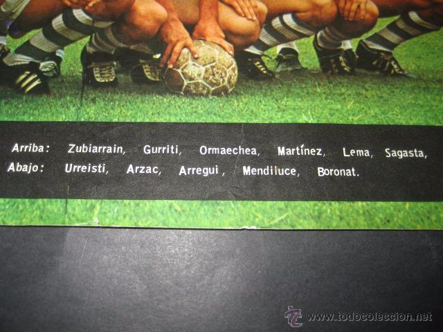 Coleccionismo deportivo: POSTER FUTBOL REAL SOCIEDAD 1964 - Foto 3 - 55007952