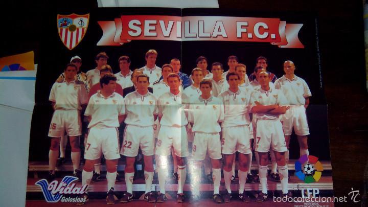 Coleccionismo deportivo: Posters futbol golosinas Vidal. Liga 96/97. Barcelona, Betis, Atletico, Ronaldo, Stochkov, Kiko... - Foto 4 - 55251189