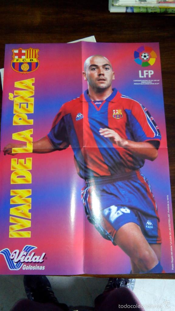 Coleccionismo deportivo: Posters futbol golosinas Vidal. Liga 96/97. Barcelona, Betis, Atletico, Ronaldo, Stochkov, Kiko... - Foto 5 - 55251189