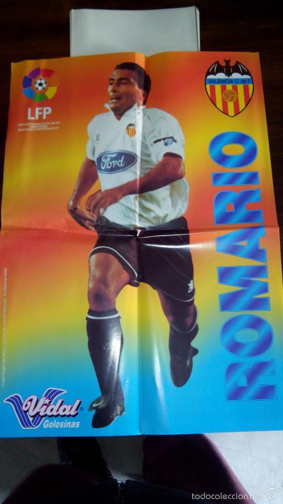 Coleccionismo deportivo: Posters futbol golosinas Vidal. Liga 96/97. Barcelona, Betis, Atletico, Ronaldo, Stochkov, Kiko... - Foto 7 - 55251189
