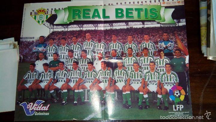 Coleccionismo deportivo: Posters futbol golosinas Vidal. Liga 96/97. Barcelona, Betis, Atletico, Ronaldo, Stochkov, Kiko... - Foto 8 - 55251189