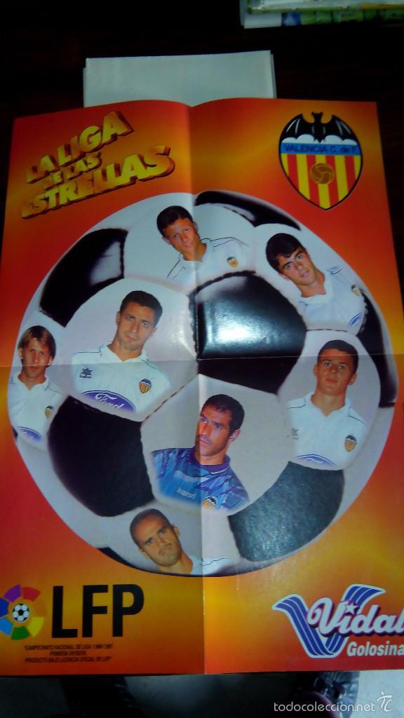 Coleccionismo deportivo: Posters futbol golosinas Vidal. Liga 96/97. Barcelona, Betis, Atletico, Ronaldo, Stochkov, Kiko... - Foto 9 - 55251189