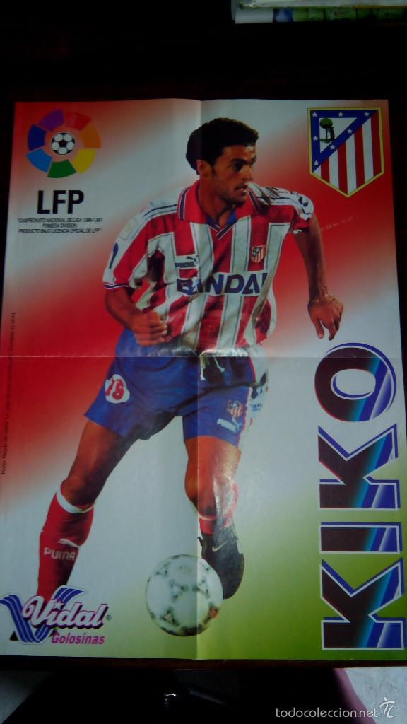 Coleccionismo deportivo: Posters futbol golosinas Vidal. Liga 96/97. Barcelona, Betis, Atletico, Ronaldo, Stochkov, Kiko... - Foto 12 - 55251189