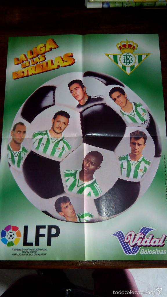 Coleccionismo deportivo: Posters futbol golosinas Vidal. Liga 96/97. Barcelona, Betis, Atletico, Ronaldo, Stochkov, Kiko... - Foto 13 - 55251189