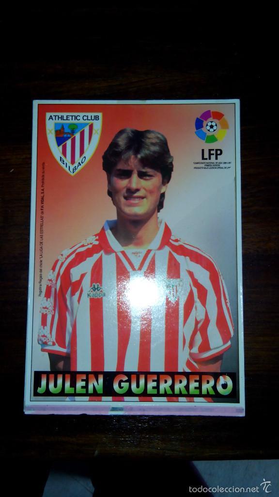 Coleccionismo deportivo: Posters futbol golosinas Vidal. Liga 96/97. Barcelona, Betis, Atletico, Ronaldo, Stochkov, Kiko... - Foto 18 - 55251189