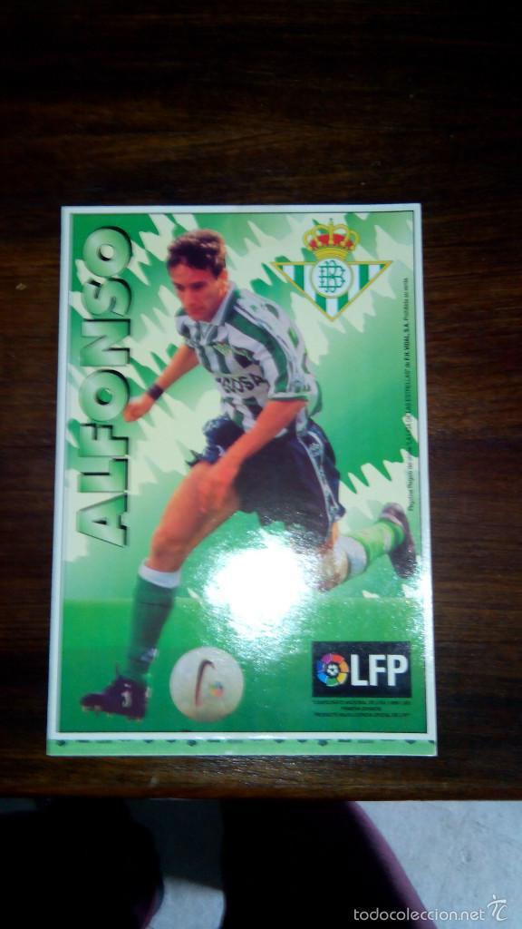 Coleccionismo deportivo: Posters futbol golosinas Vidal. Liga 96/97. Barcelona, Betis, Atletico, Ronaldo, Stochkov, Kiko... - Foto 19 - 55251189