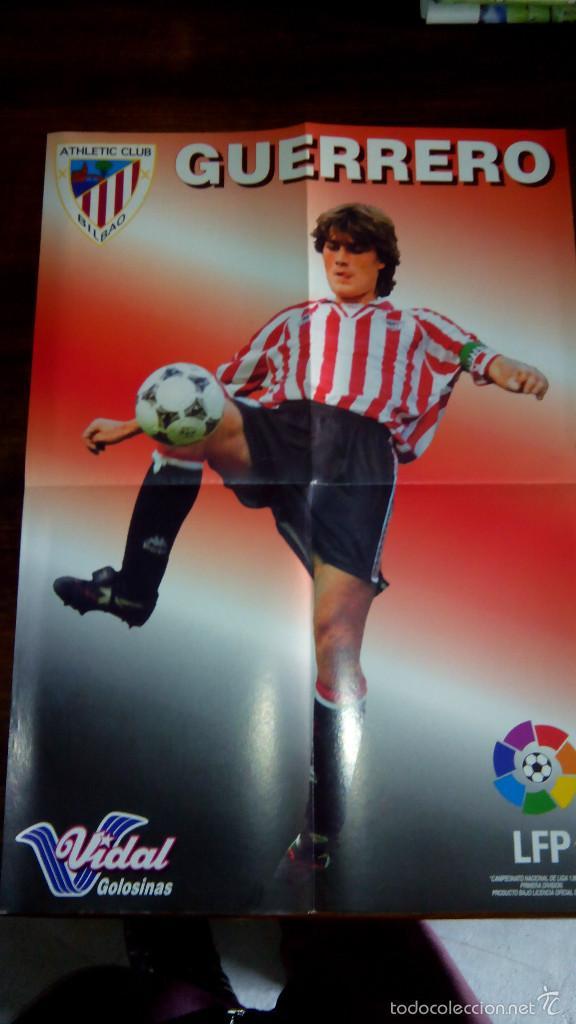 Coleccionismo deportivo: Posters futbol golosinas Vidal. Liga 96/97. Barcelona, Betis, Atletico, Ronaldo, Stochkov, Kiko... - Foto 22 - 55251189