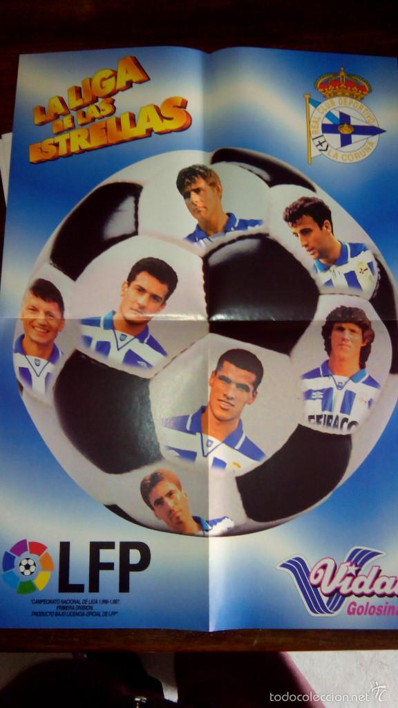 Coleccionismo deportivo: Posters futbol golosinas Vidal. Liga 96/97. Barcelona, Betis, Atletico, Ronaldo, Stochkov, Kiko... - Foto 23 - 55251189