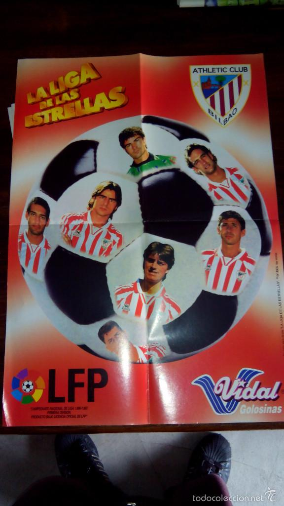 Coleccionismo deportivo: Posters futbol golosinas Vidal. Liga 96/97. Barcelona, Betis, Atletico, Ronaldo, Stochkov, Kiko... - Foto 24 - 55251189