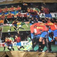 Coleccionismo deportivo: LOS 4 POSTER SELECCION ESPAÑOLA (ESPAÑA 94) DE LOS CHICLES SONRIC´S. Lote 55713466
