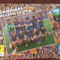 Coleccionismo deportivo - POSTER F.C.BARCELONA CAMPIONS RECOPA 1978-1979 DANONE ESTRELLA DORADA CERVEZA DAMM - 55915236