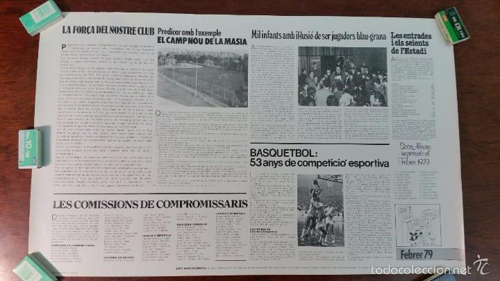Coleccionismo deportivo: POSTER CARLES REXAC F.C.BARCELONA DANONE-CERVEZA ESTRELLA DORADA DAMM AÑO 1979 - Foto 2 - 55915298