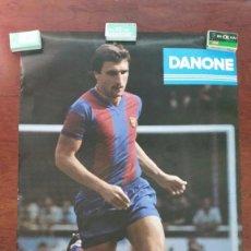 Coleccionismo deportivo: POSTER HANSI KRANKL F.C.BARCELONA DANONE-CERVEZA ESTRELLA DORADA DAMM AÑO 1979. Lote 55915564