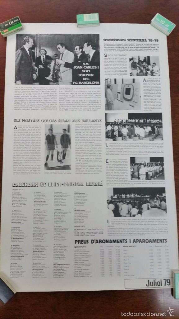 Coleccionismo deportivo: POSTER HANSI KRANKL F.C.BARCELONA DANONE-CERVEZA ESTRELLA DORADA DAMM AÑO 1979 - Foto 2 - 55915564